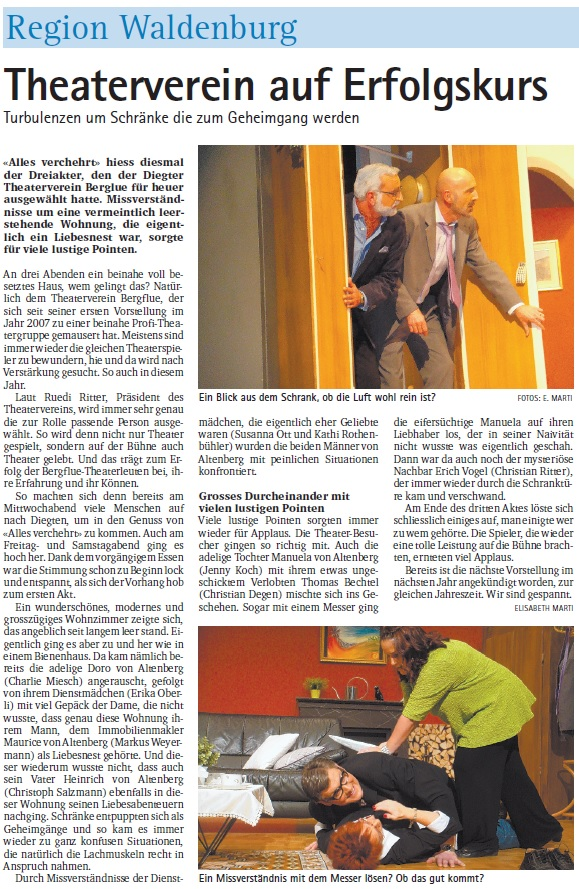 Pressebericht aus der ObZ vom 28. November 2013